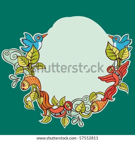 Nature decoration - stock vector