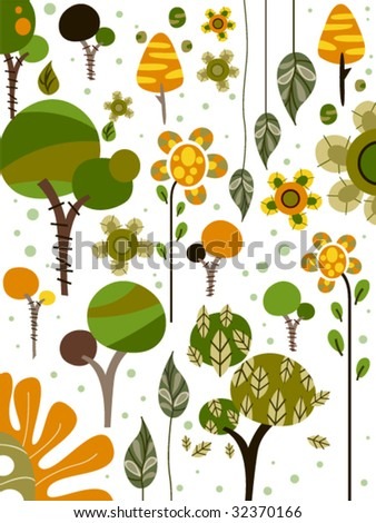 Nature Doodles - Vector