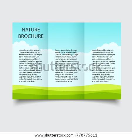 Nature Ecological Brochure Design Template Creative Stock Photo
