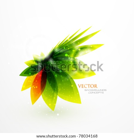 Nature flower background - stock vector