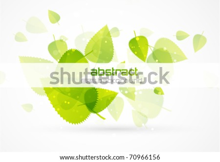 Nature flying leaves. Vector abstract background
