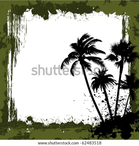 nature grunge background - stock vector