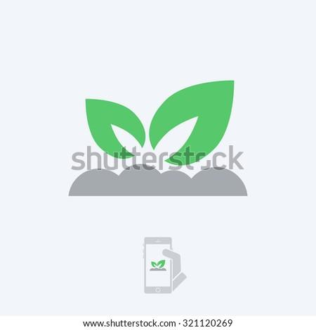 Nature icon - stock vector