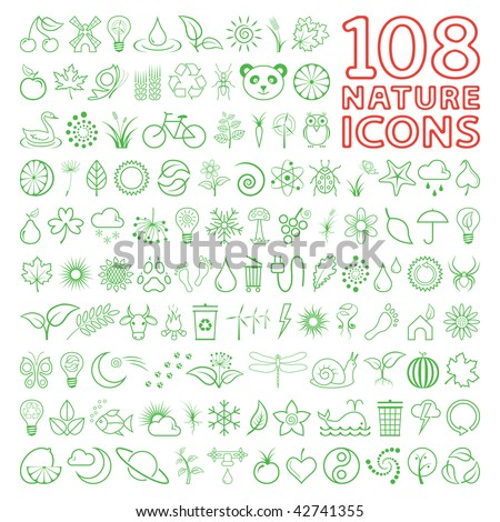 Nature Icon Set - stock vector