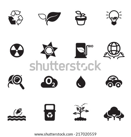 Nature  Icons Vector files. - stock vector