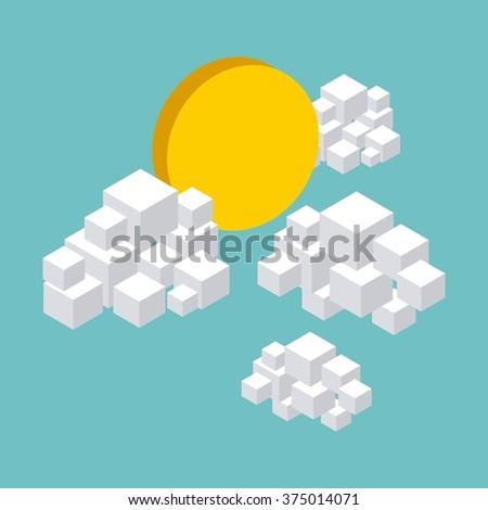 nature in pixels design  - stock vector