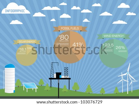 Nature infographics elements. - stock vector