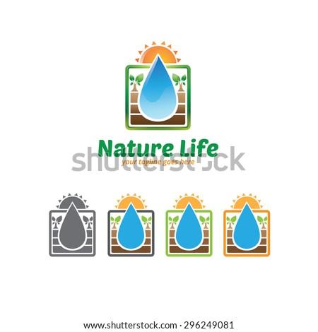 Nature Life Logo - stock vector