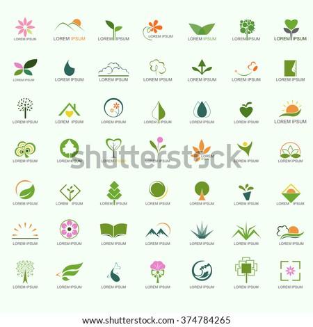 Nature Logo Set - stock vector