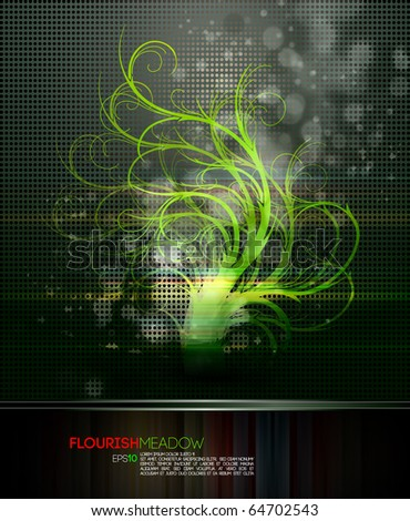 Nature Magic | Flourish Fantasy | EPS10 Compatible Vector File - stock vector
