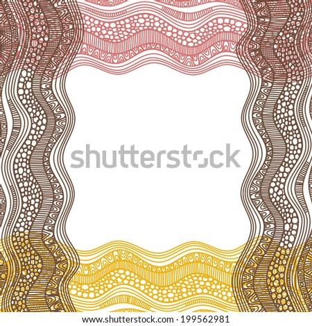 Nature pattern background frame vector illustration