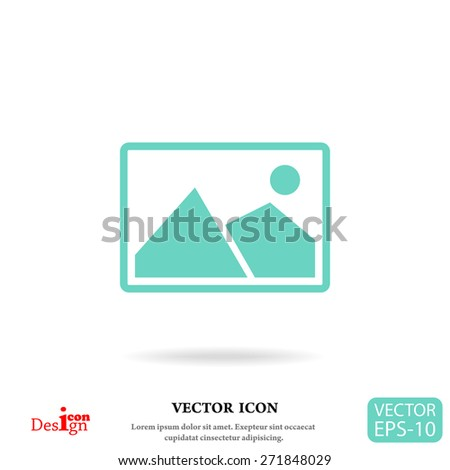 nature photo vector icon - stock vector