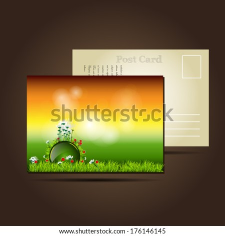 Nature postcards  - stock vector