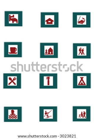 nature signs and symbols - stock vector