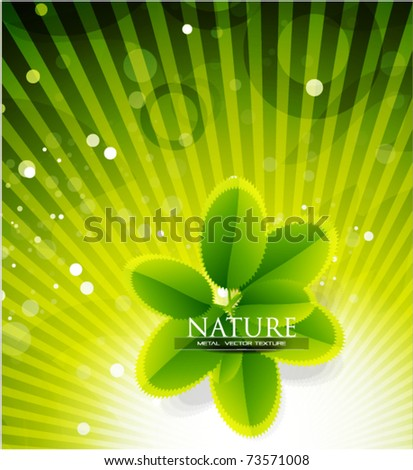 Nature vector abstract background. Leaves composition