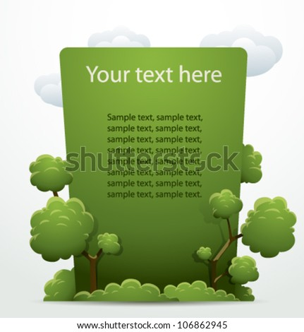nature vector banner - stock vector