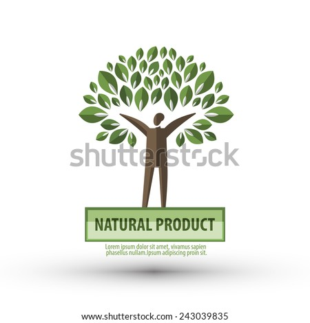 nature vector logo design template. ecology or bio icon. - stock vector