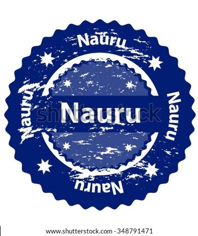 Nauru Country Grunge Stamp - stock vector