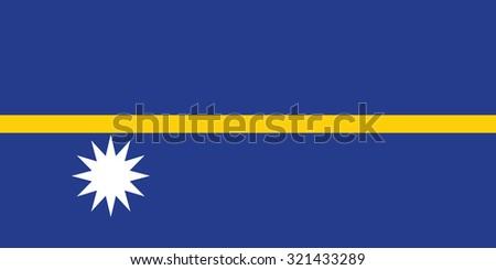 Nauru national flag. Vector illustration of Nauru flag - stock vector