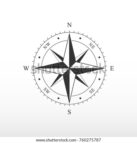 Nautical Compass Icon Pictograph Compass Side Stock Vector Hd