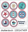 Nautical Sea Design Elements - stock vector