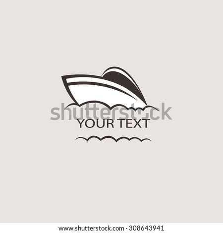 Nautical theme icon. Boat logo Brand Identity for Boating Business - stock vector
