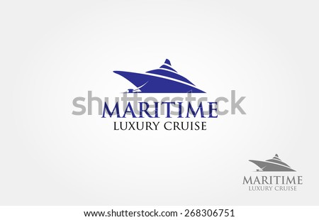 Nautical theme logo, basic of this logo is a cruise made from simple shape. - stock vector