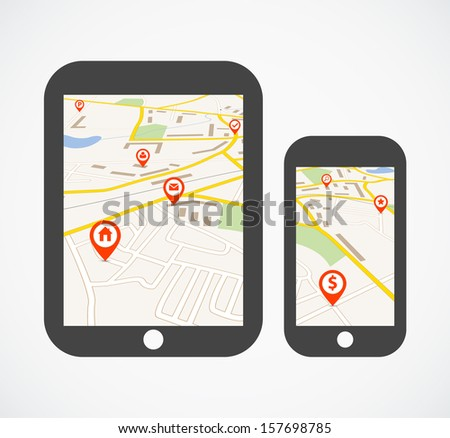 Navigation concept - stock vector