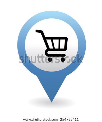 Navigation grocery icon - stock vector