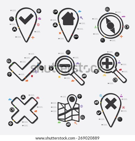 navigation infographic - stock vector