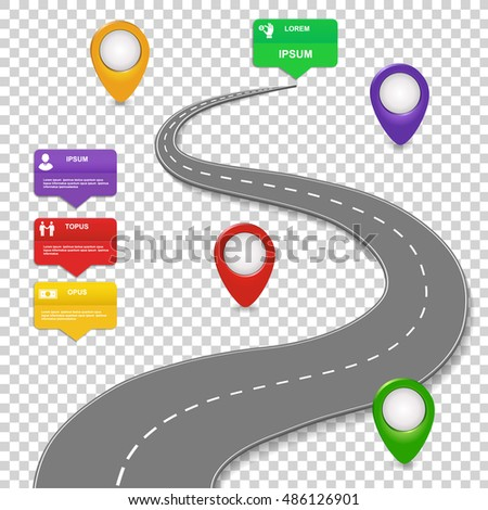 navigation infographics design concept car road stock vector rh shutterstock com roadmap clipart product roadmap clipart