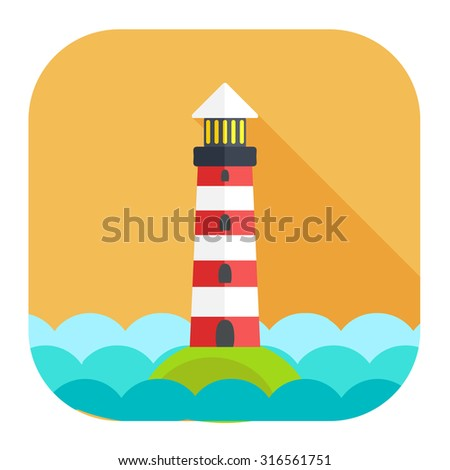navigation sea tower icon - stock vector