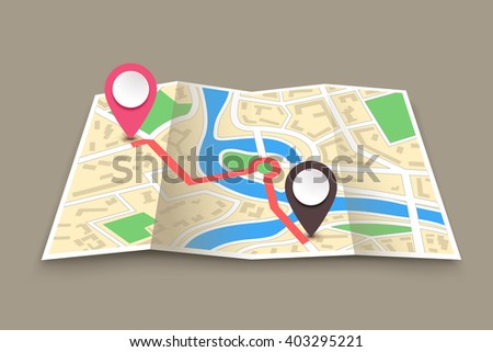 navigation set 03 - stock vector