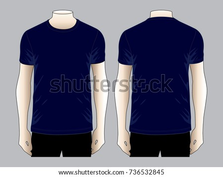 Blue shirt stock images royalty free images vectors for Navy blue t shirt template