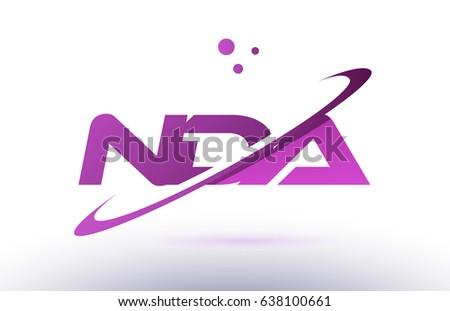 Nda N D Alphabet Letter Logo Vector de stock638100661: Shutterstock