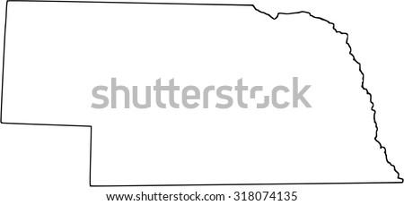 Nebraska - stock vector