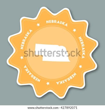 Nebraska Map Us Globalinterco - Us state sticker map