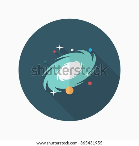 Nebula  flat  icon with long shadow,eps10 - stock vector