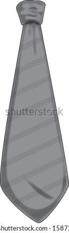 necktie croatian pleter classic print - stock vector