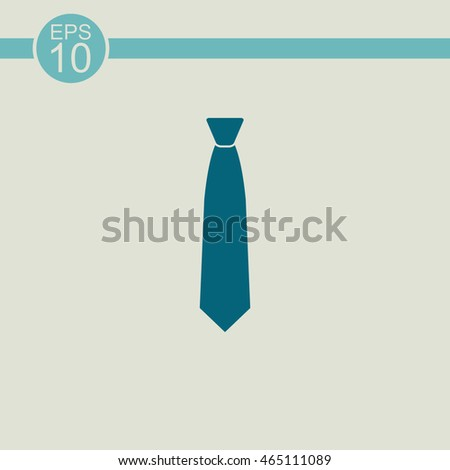 Necktie vector icon. The tie sign.