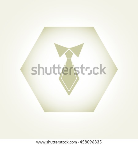 necktie , vector illustration