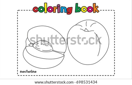 nectarine coloring book coloring page