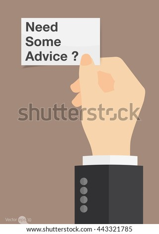 Need Some Advice - stock vector