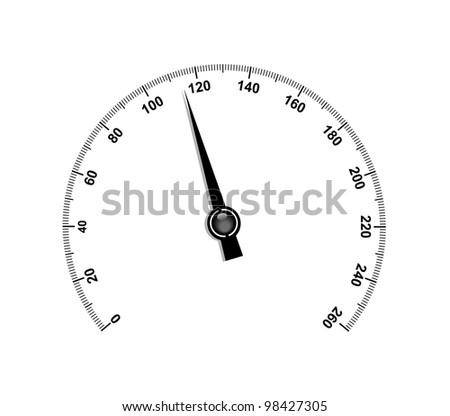 Needle speedometer - stock vector