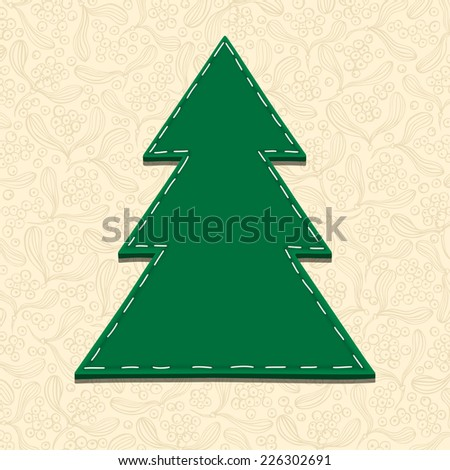 Needlecraft Christmas Tree, vector eps10 illustration - stock vector