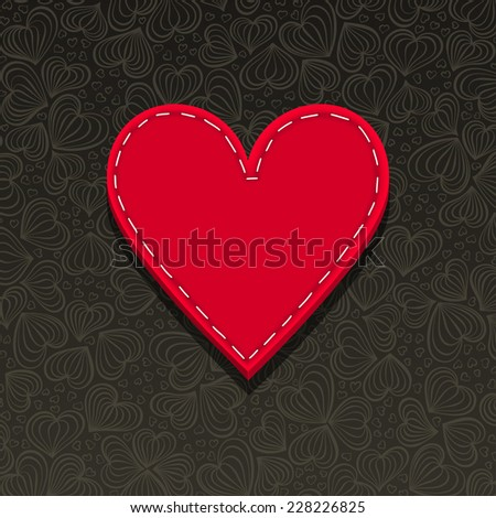 Needlecraft Heart, vector eps10 illustration - stock vector