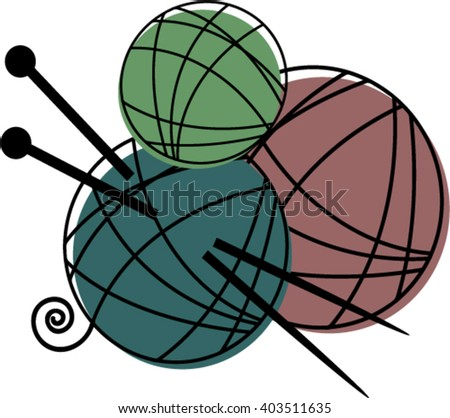 Needles and tangles - stock vector