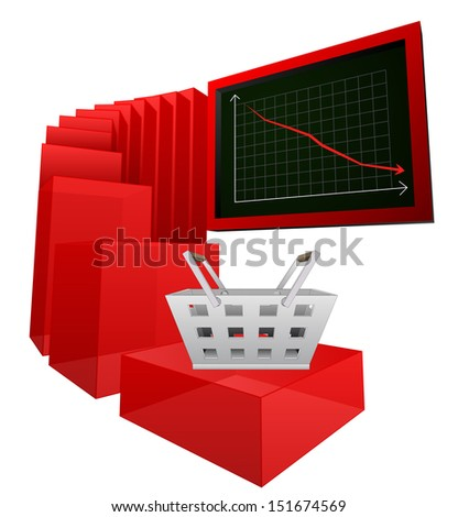 negative business sale or buy results vector illustration - stock vector