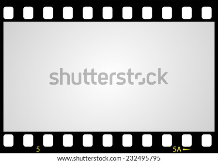 negative picture film frame, vector illustration - stock vector