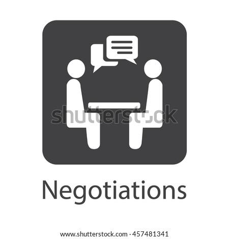 Negotiation Vector Icon. Negotiation Icon JPEG. Negotiation Icon EPS. Negotiation Vector Concept. Negotiations logo Icon. - stock vector